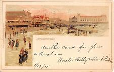 1905 Boardwalk & Beach Atlantic City NJ post card Tuck