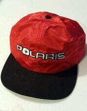 Authentic Polaris Snowmobile Hat Silky Red Snap Back Adjustable Cap