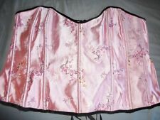 44 PLUS SIZE INTIMATE ATTITUDES PINK BROCADE CORSET SIZE 44