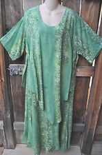 """ART TO WEAR LAPIS DRESS IN ALL NEW LEMONGRASS BY MISSION CANYON, SZ SMALL, 42""""B"""