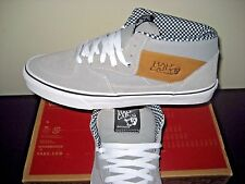 Vans Mens Half Cab Waxed Canvas Frst Gray Canvas Skate Shoes Sz 11.5 VN000UC8H18