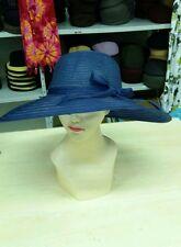 cappello blu elegante cerimonia taglia unica  paglia hat cocktail donna mare