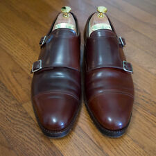 Meermin Cherry Shell Cordovan Monk Strap Shoes UK8, US9