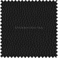 Recycled Eco Genuine Leather Hide Premium Car Seat Upholstery Grain Effect Black
