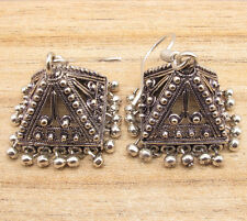 PYRAMID JHUMKI WEDDING JEWELRY LARGE INDIAN JHUMKA EARRINGS ! 925 Silver Plated