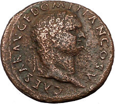Domitian 73AD Large Ancient Roman Coin SPES Goddess of hope Cult  i36452