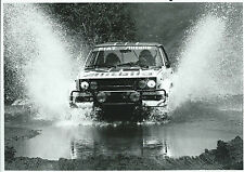 Fiat 131 Rally Abarth Alitalia Original Rally Photograph Through Deep Water