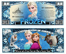 La REINE des NEIGES BILLET MILLION DOLLAR US! FROZEN Elsa Anna Collection DISNEY