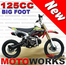 MOTOWORKS 125cc BIGFOOT DIRT TRAIL PIT MOTOR 2 WHEELS PRO BIKE Kick start red