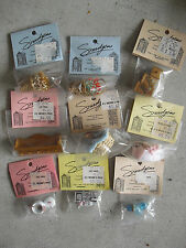 Lot of 9 Smidgens Dollhouse Miniatures NIP Paper Pot Baskets MORE LOOK