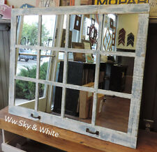 NEW RUSTIC FARMHOUSE RECLAIMED DISTRESSED BARN WOOD WINDOW 12 PANE MIRROR DECOR