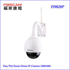 Foscam FI9828P PTZ 1.3MP 3 X Optical Zoom with Pan/Tilt/Zoom Wireless IP Camera