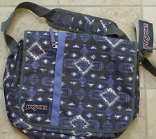 "JANSPORT Purple Aztec 15"" Laptop Computer Sling Bag New Tags MSRP $40"