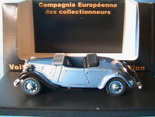 CITROEN TRACTION 7CV CABRIOLET OUVERT BLEU 1936 CEC V5457 1/43 ROADSTER BLUE