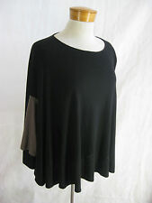 MARIMEKKO size S Black/ Brown Over Size  Swing Knit Top