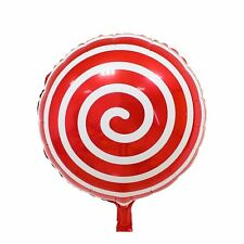 ♛ Shop8 : 1 pc CANDY LOLLIPOP SWIRL FOIL BALLOON Party Needs