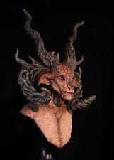 Satyr Cernunnos Sculpture Faun Pagan God -The Forest Lord- Fully Painted Bust