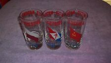 3 United Nations DRINKING GLASSES/TUMBLERS POLAND- FRANCE-USSR