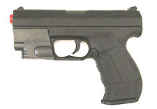 A&K AK-035R M035R Spring Airsoft Pistol Gun - BLACK P99 style with red laser NEW
