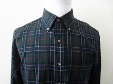 "Sir Pendleton ""Ogilvie Hunting Tartan"" Green Plaid Wool Button Down Shirt Sz L"