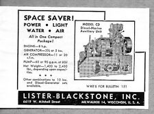 1945 Print Ad Lister Blackstone Model CD Diesel Marine Engines Milwaukee,WI