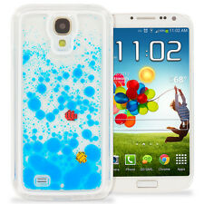 For Samsung Galaxy S4 3D Water Fish Tank Cute Liquid Moving Case Cover Sea Blue