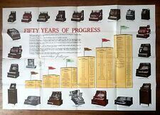 Authentic 1929 National Cash Register Product Poster for 50 Year Anniversary