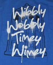Doctor Who WIBBLY WOBBLY TIMEY Wimey  Adult T-Shirt Official License Tee Size XL