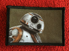 BB8 Star WarsMovie Morale Patch Tactical Military USA Hook Badge Army Flag
