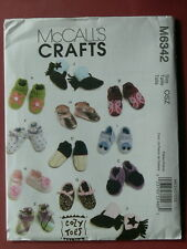 McCall's Pattern 6342 Baby Shoes and Boots babies infants booties shower gifts