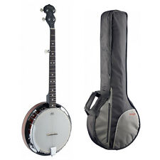 Stagg BJW24 Deluxe Banjo 5 Cuerdas occidental con estuche de transporte