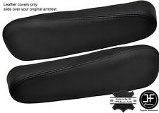 BLACK STITCH 2X SEAT ARMREST LEATHER COVERS FITS HONDA CRV CR-V 2007-2011