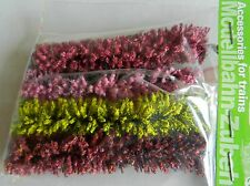 FLOWERING FLEXIBLE HEDGING J12A ~ SCENERY FOR MODEL RAIL OO / HO SCALE BRAND NEW