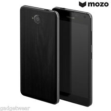 Mozo Wood Effect Replacement Back Cover Case for Microsoft Lumia 650 -Black Wood