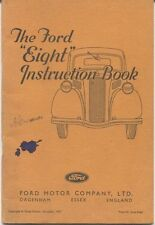 Ford 8 Eight Model 7Y 1937-39 Original Factory Owners Handbook No. T9523/1237