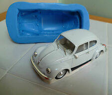 VW BEETLE CAR 3D SILICONE MOULD FOR CAKE TOPPERS, CHOCOLATE, CLAY ETC