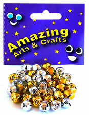 Amazing Arts and Crafts Jingle Bells, - 10mm   GOLD AND SILVER 36pcs