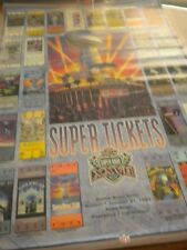 SUPER BOWL XXVII POSTER SUPER TICKETS ROSE BOWL