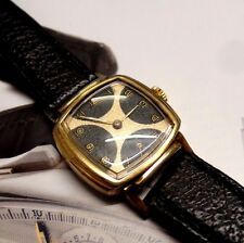 vintage art deco cortebert watch with 2 tone dial orvin movement