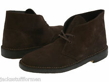Clarks Desert Boot Mens Size US 13 M Dark Brown Suede Chukka Boots Shoes