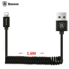 BASEUS 1.6M Spring retractable Lightning Charging USB Cable for iPhone 5 6S Plus