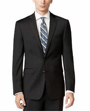 Calvin Klein X Slim Fit Suit 100% Wool Solid Charcoal MBYR25FY0071 44 Short US