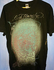 Ed Hardy Christian Audigier Eternal Courage T-Shirt - Tiger & Skeleton Graphic L