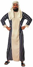 Sheik Costume Mens Sultan Outfit Caftan Robe Headpiece Hat Adult King Turban NEW