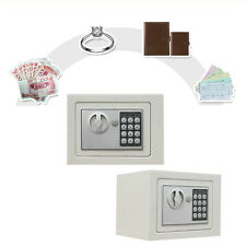 NEW Small White Digital Electronic Safe Box Keypad Lock Home Office Hotel Gun BY