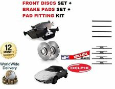 LOTUS ELAN 1.6 1990-1995 FRONT BRAKE DISCS SET + DISC PADS + PAD FITTING KIT
