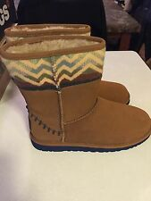 UGG PENDLETON CHESTNUT SHEEPSKIN BOOTS, YOUTH 5 EUR 35 NIB UGGS