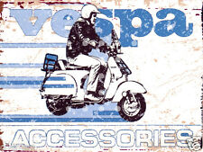 VESPA SCOOTER METAL SIGN 8x10in pub bar shop cafe games room diner garage man