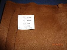 1.6 yds brown heavy crepe fabric 60 in wide, ticketed at $5.50