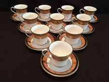 SET OF 10 CUP AND SAUCERS IN THE NORITAKE PATTERN - CABOT